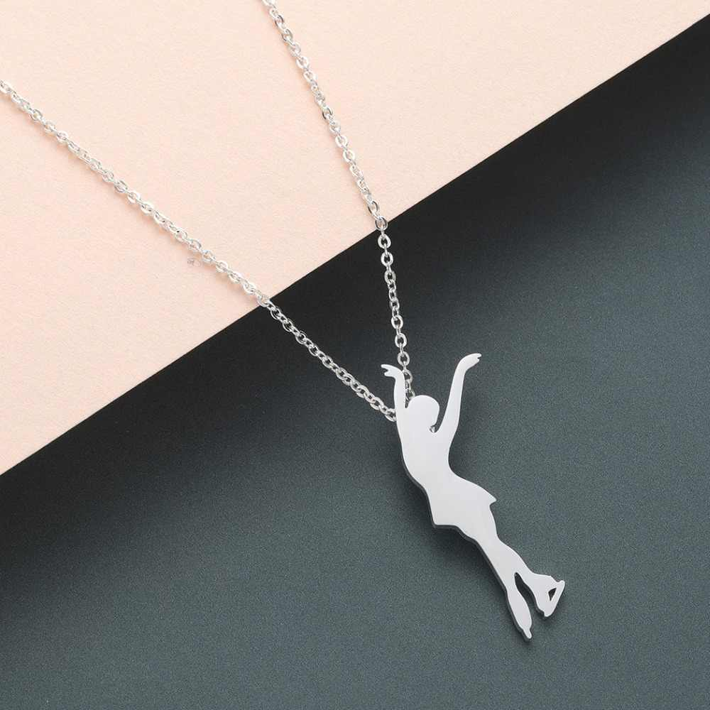 Todorova Ballerina Dancer Figure Skating Pendant Necklace Ice Skating Sports Jewelry Gold Chain Men Necklace Memorial Gift