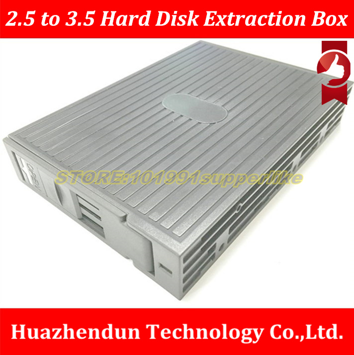 NEW ARRIVALS   2.5 inch to 3.5 inch Hard Disk Extraction Box for 2.5 SATA SAS SSD  7PIN SATA interface Bracket  SSD Case 1pcs 30pcs hard disk bracket for dell r710 r610 r910 r720xd g176j 2 5 inch