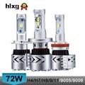 2016 new super bright 12000 lumen 72 W H4 alta baixa feixe duplo 8G carro levou faróis lâmpada de conversão kit h7/h8/h9/h11/9005/9006/hb3