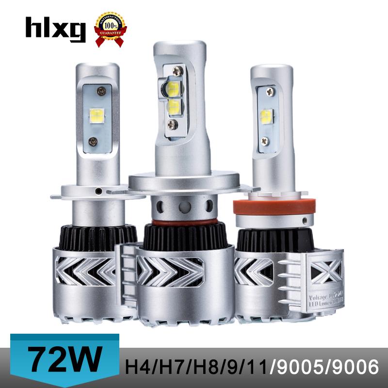 Prix pour 2016 new super bright 12000 lumen 72 W H4 haute bas à double faisceau 8G voiture led phares ampoule conversion kit h7/h8/h9/h11/9005/9006/hb3
