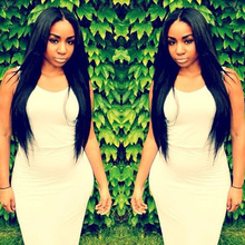 Silky Straight Virgin Brazilian Hair Glueless Full Lace Wig Straight Remy Human Hair Full Length Front Lace Wigs Glueless Wigs