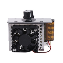 AC Electric Regulator Motor Speed Controller 220V 4000W SCR Temperature Voltage Regulator With Fan Big Power Brightness Dimmer