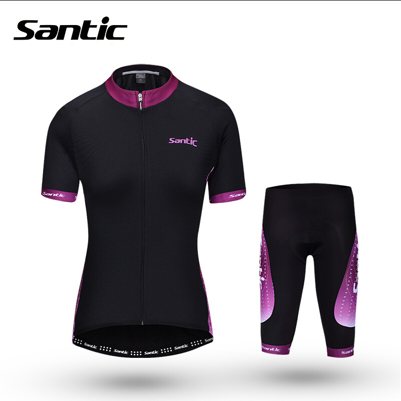 Santic Womens Cycling Jersey Summer Short Sleeve Cycling Clothing PRO Racing Women Jersey Maillot Bike Clothes Ropa Ciclismo