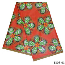New arrival african wax fabric Nigeria Java fabric100% cotton high quality 6 yards/pcs for women dress 1306-9