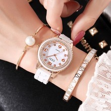 2019 GEDI Fashion Ceramics Women Watches Top Luxury Brand Ladies Quartz Watch 3 Pieces Bracelet Watch Relogio Feminino Hodinky 2018 new hot gedi fashion ceramic women watches top luxury brand ladies quartz watch 2 pieces watches relogio feminino hodinky