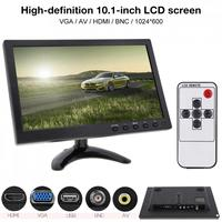 10.1 Inch HD IPS TFT LCD Car Monitor Mini TV Computer 2 Channel Video Input Security Monitor with Speaker AV HDMI BNC VGA