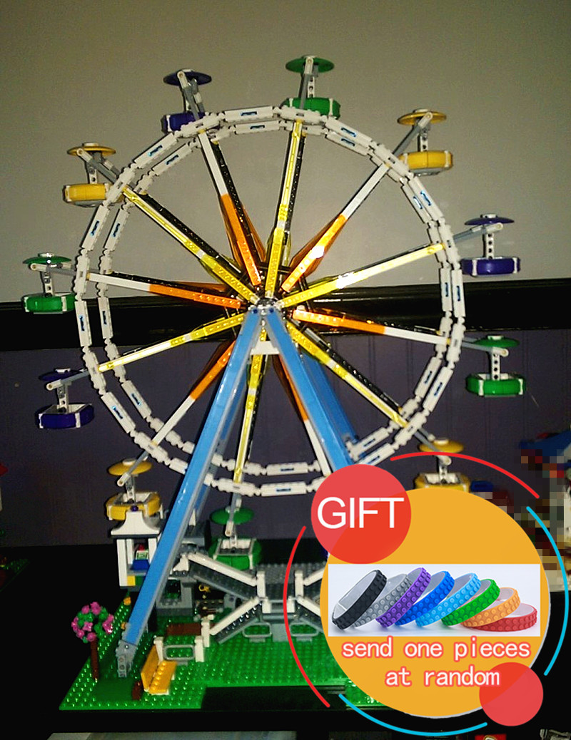 15012 2478Pcs City Series Expert Ferris Wheel set Compatible with 10247 Model Building Blocks toys cock robin