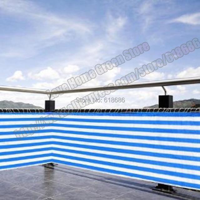 Us 79 99 Blau Weiss Gestreifte Sichtschutz Net Markise Zaun Fur Deck Terrasse Balkon Veranda 0 75 Mt X 10 Mt In Blau Weiss Gestreifte Sichtschutz