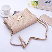 2016 Hot Sale Top Brand Penalty Carteira New Designed Women Weave Pattern Wallet Shoulder Messenger Bag Handbag