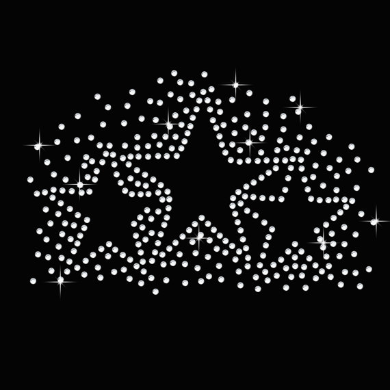 2pc lot Shirt Star Burst sticker Hotfix Rhiestone Transfer iron on applique patches iron on rhinestone transfer designs for bag in Rhinestones from Home Garden