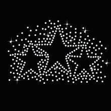 2pc/lot Shirt Star Burst sticker  Hotfix Rhiestone Transfer iron on applique patches rhinestone transfer designs for bag