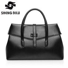 New American LUXURY Style Genuine Leather Women Shoulder Bag Brand Designer Cowhide genuine leather handbags Skin Crossbody bag
