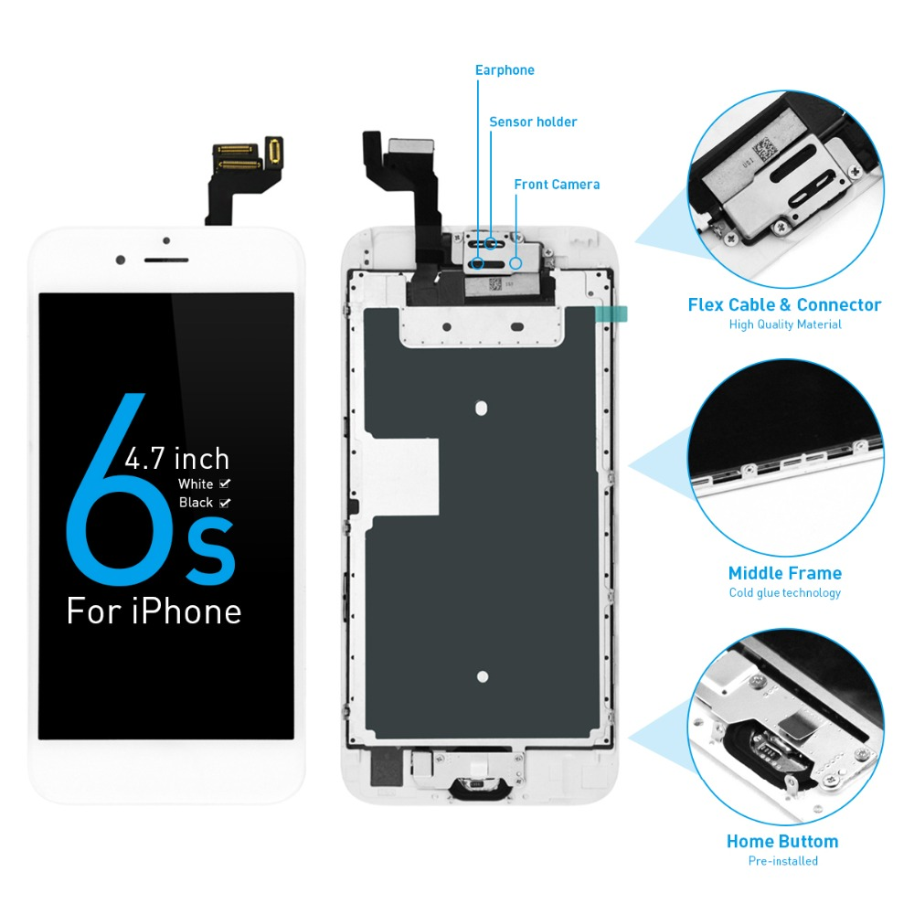 Lcd-Display Digitizer Lcd-Screen Apple iPhone A1688 Assembly for 6s AAA A1633 A1633