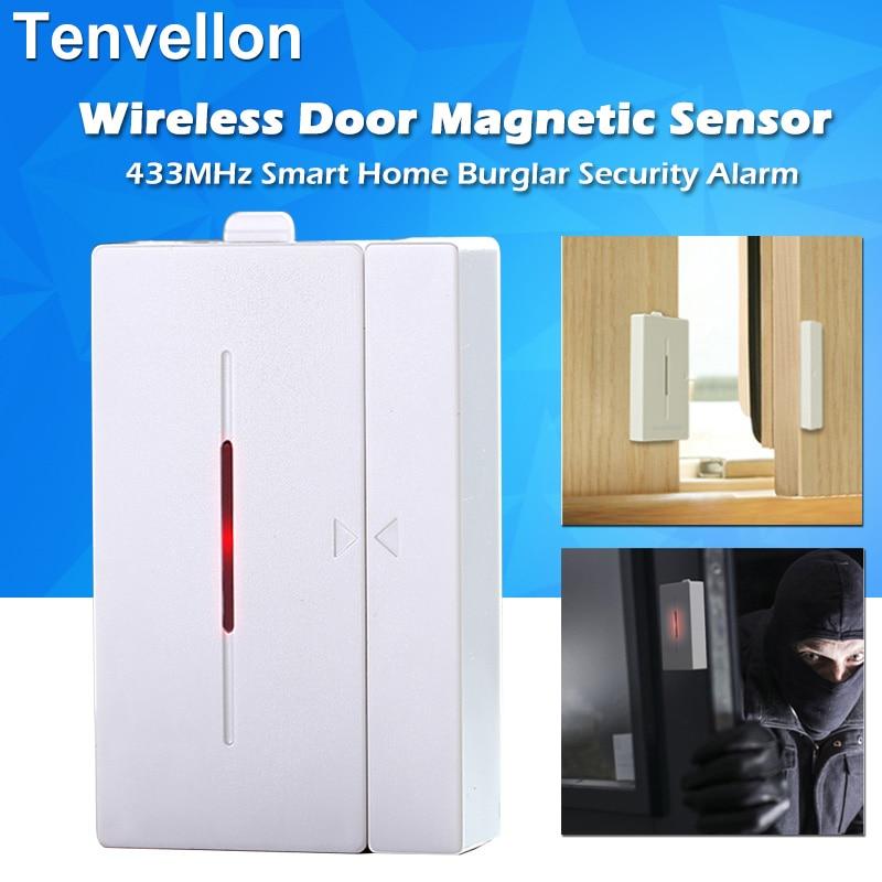 433MHz Portable Alarm Sensors Smart Home Alarm System Wireless Window Door Magnetic Sensor Detector Home Security Alarm System