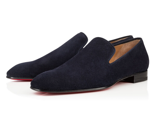 d4ade9eb650c0 Slip On Mens Shoes Black Navy Blue Suede Flat Shoes Off-Duty Style Oxford  Shoes For Men