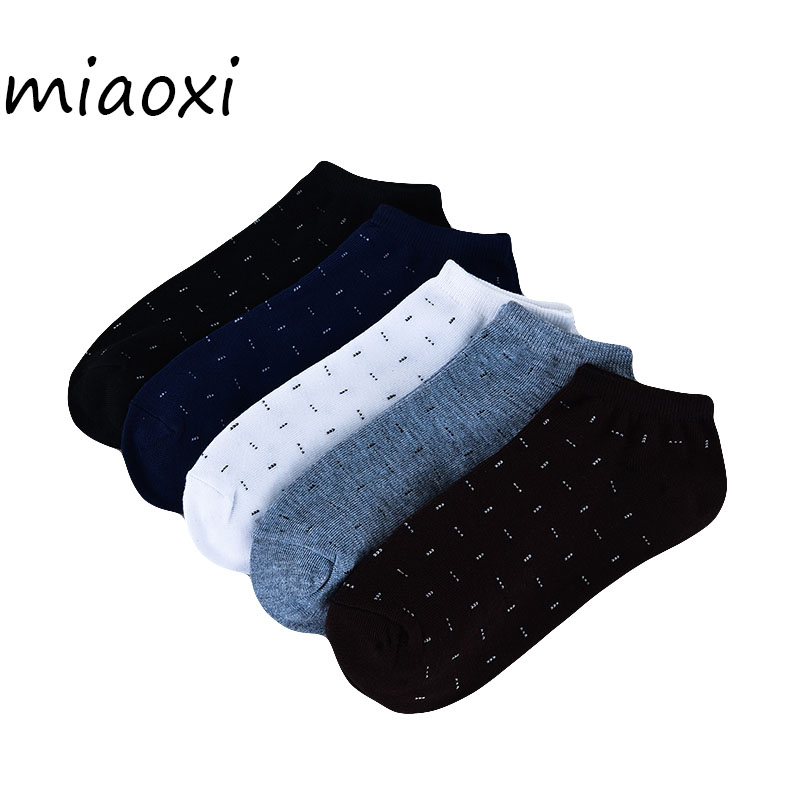 miaoxi 5 Pairs /Lot Casual Summer Men Short Sock Wholesale Sale Comfortable Polyester Fashion Boat Socks For Man