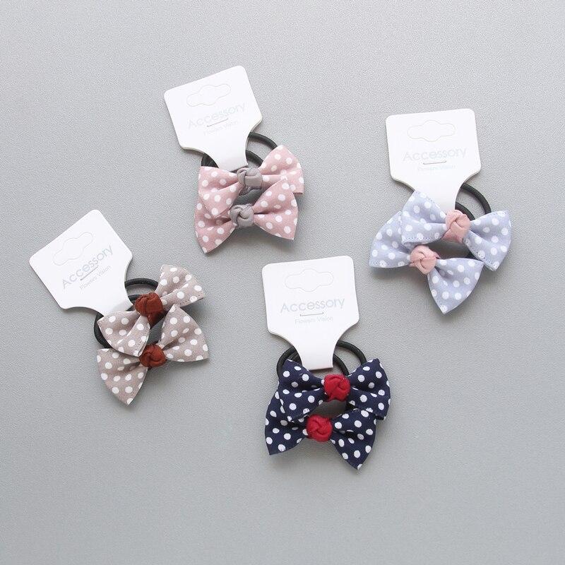 2pcs/lot Newly Design Children Headdress Girls Cute Hair Clips Headwear Bow Dot Hairpins Hairring BB Clip Baby Hair Accessories