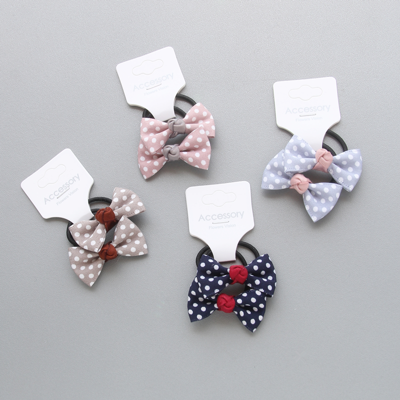 2pcs/lot Newly Design Children Headdress Girls Cute Hair Clips   Headwear   Bow Dot Hairpins Hairring BB Clip Baby Hair Accessories