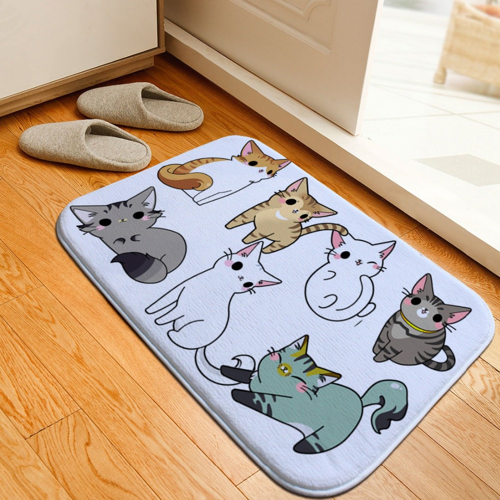 Flannel Car Carpet Floor Rug Home Decor Pad Bedroom Rugs