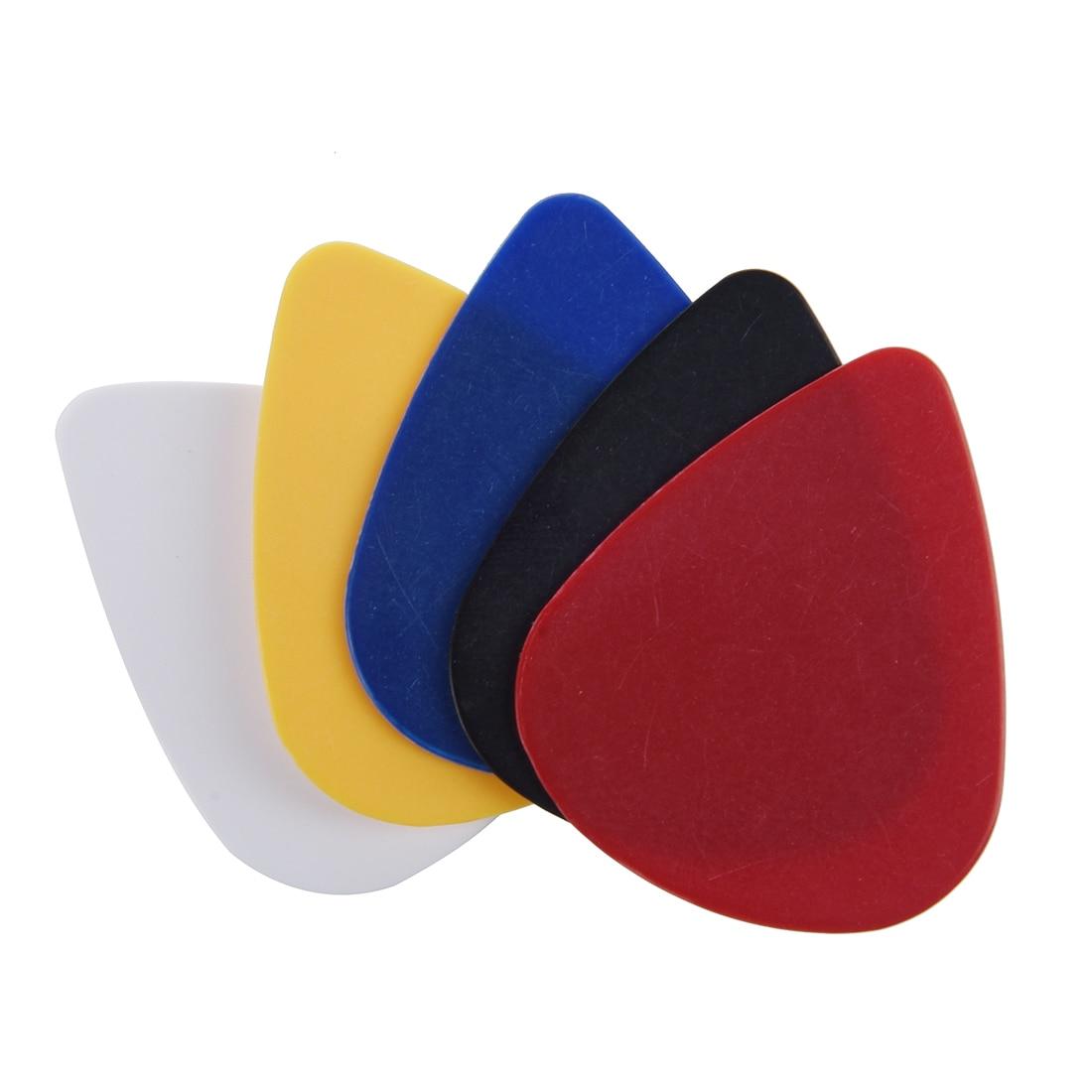 100pcs 0.58 - 0.86 mm Assorted Color Plectrums Plastic Guitar Picks