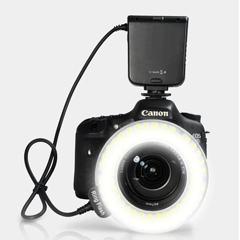 HC-122 122 Macro LED Ring Flash Light For Canon 100D 700D 650D 1100D 600D 500D 550D 450D 1000D 400D 350D 70D 60D 60Da 50D 40D quik lok mp891