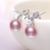 Daimi natural púrpura rosa blanco negro perla juegos de anillos pendientes, nueva Joyería de La Manera Natural Perla Conjuntos, partido La Joyería Fija