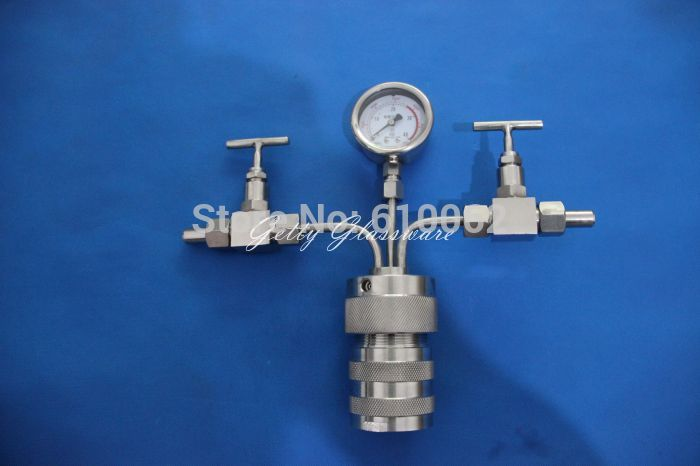 200ml Hydrothermal synthesis Autoclave Reactor with Teflon Chamber&Pressure Gauge, Max 240Celsius Degree 6Mpa цена