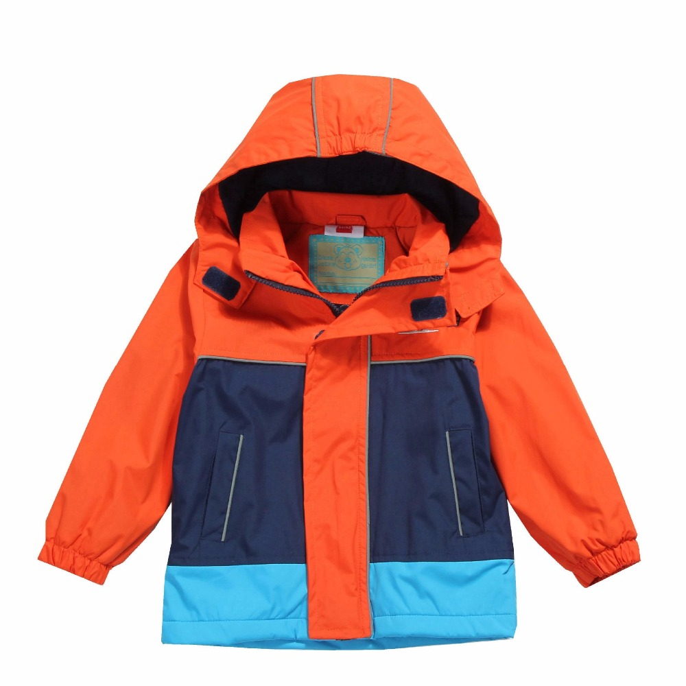Waterproof Index 5000mm Windproof Baby Boys Jackets Child Coat Warm Polar Fleece Children Outerwear For 2-12 Years Old