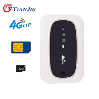 TIANJIE M6 M7 universal 3G 4G WCDMA GSM modem Mini mobile Hot spot portable 150 Mbps 4G WiFi Router with SIM Micro SD Card Slot