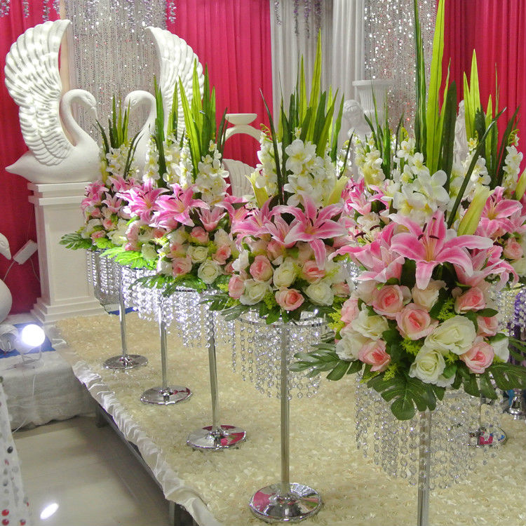 Pink Flower Centerpieces For Weddings: New Tall 70cm 27.5inch White Pink Blue Artificial Rose