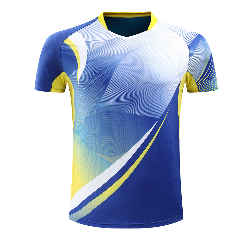 Free Printing Badminton Shirt Tennis Shirt Men Quick Dry Tennis