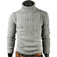 Hot Men S Turtleneck Sweater Warm Winter Casual Fashion Brand Sweater Solid British College Style Free