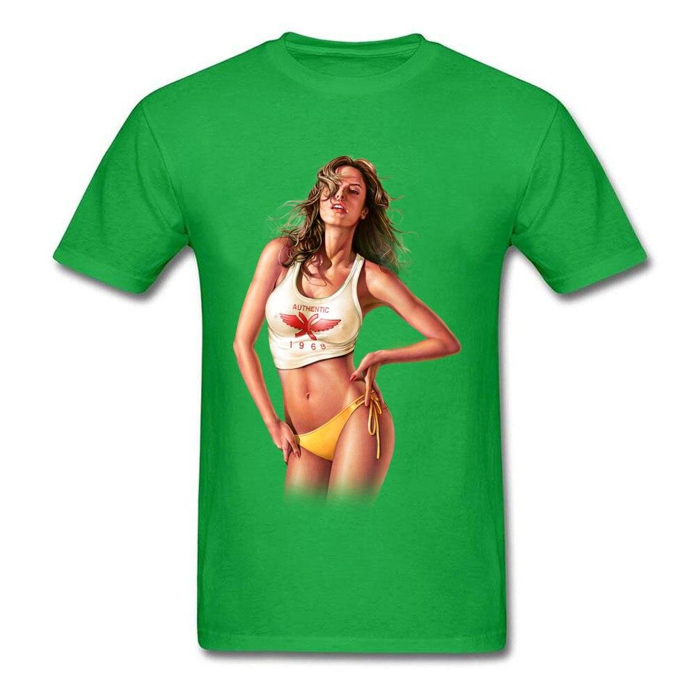 Sensual Lady 331 Hip hop NEW YEAR DAY 100% Cotton Round Collar Man Tops Shirt Printed Tops Tees Faddish Short Sleeve T Shirt Sensual Lady 331 green