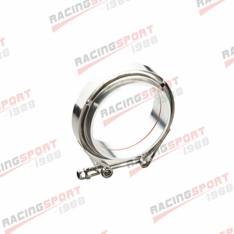 """OBX Universal 3.0/"""" V-Band Clamp /& 2pcs Aluminum Flange Set   Racing  Sports"""