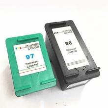 Vilaxh 96 97 Compatible Ink Cartridge Replacement for HP For PCS 1510 2355 PhotoSmart 8100 2610 Deskjet 5740 9800 Printer