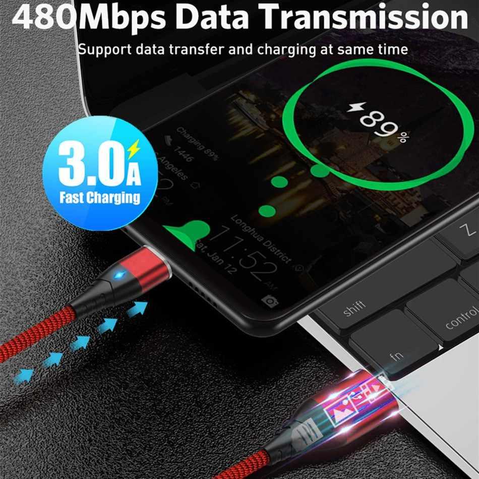 3A Từ Sạc Micro USB Cáp Cho iPhone Xiaomi Huawei Điện Thoại Di Động Android Sạc Nhanh Nam Châm Micro USB Cáp Dữ Liệu dây