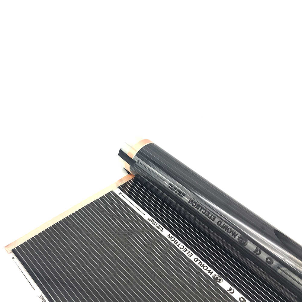 MINCO חום 15m2 רחוק אינפרא אדום חימום סרט ערכות AC220V 220 W/m2 התחממות רצפת סרט