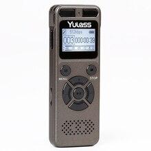 Grabadora de Audio profesional Yulass 8GB grabadora de voz Digital portátil de negocios soporte USB multilingüe, tarjeta Tf a 64GB