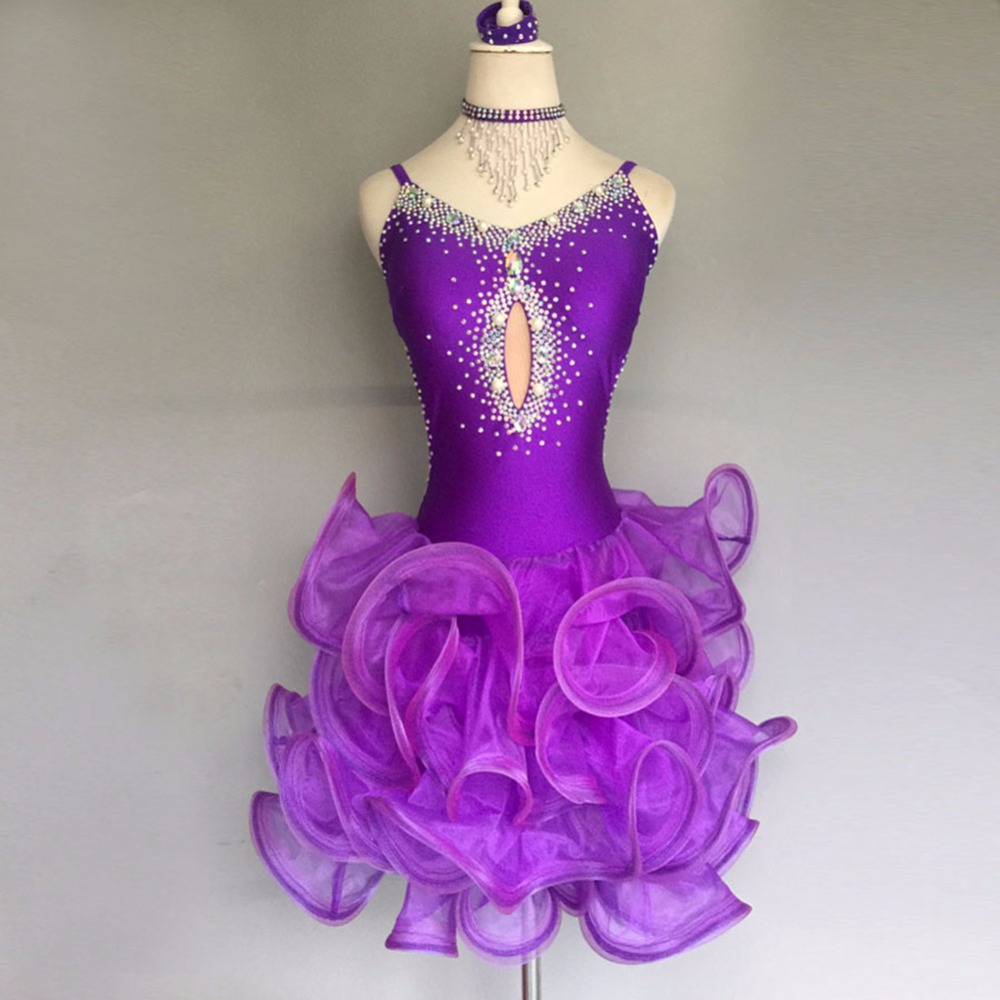 ⊰2018 sexy Latino danza vestido s-xxxl backless rhinestone etapa ...