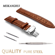 Leather Watch Band Watchband 22 24 20 18 19 16 12 13 14 15 mm Men Women Clock Strap for Hours on Watch Bracelet for tissot belt