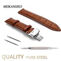 Leather Watch Band Watchband 22 24 20 18 19 16 12 13 14 15 mm Men Women Clock Strap for Hours on Watch Bracelet for tissot belt
