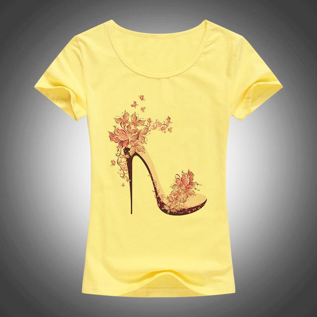 Women Cotton Tops Tees Short Sleeve Casual T-shirt