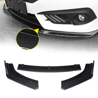 3pcs Carbon Fiber Front Bumper Lip Body Kit Spoiler For Honda Civic Sedan 4Dr