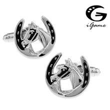 IGame заводская цена Розничная Для мужчин Запонки Латунь Материал лошадь Дизайн запонки