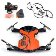Wingsland S6 For Pocket Selfie Drone WiFi FPV With 4K UHD Camera Obstacle Avoidance BB gun Searchlight LED Prop Guard