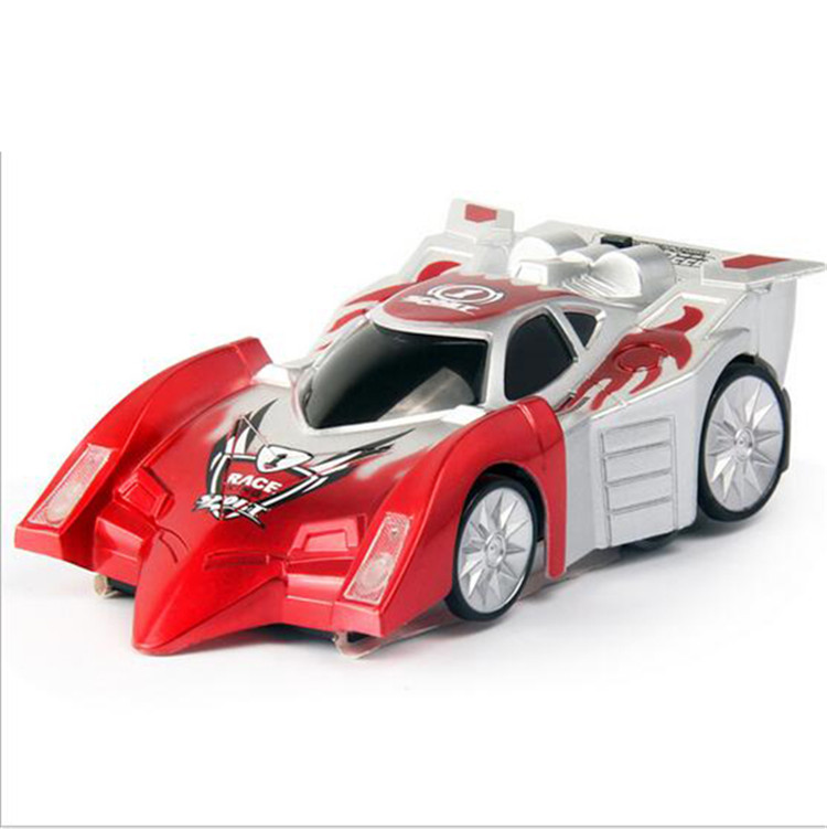 good quality brand new mini wall climbing rc racer remote control floor racing car model toy
