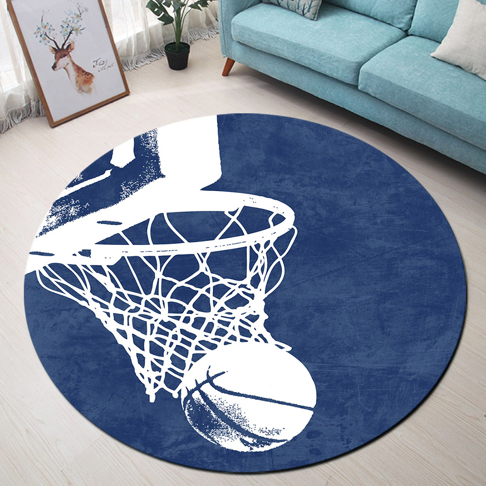 Basketball Round Rugs And Carpets For Kids Baby Home Living Room Memory Foam Bedroom Cushion Hallway Toilet Floor Door Bath Mats