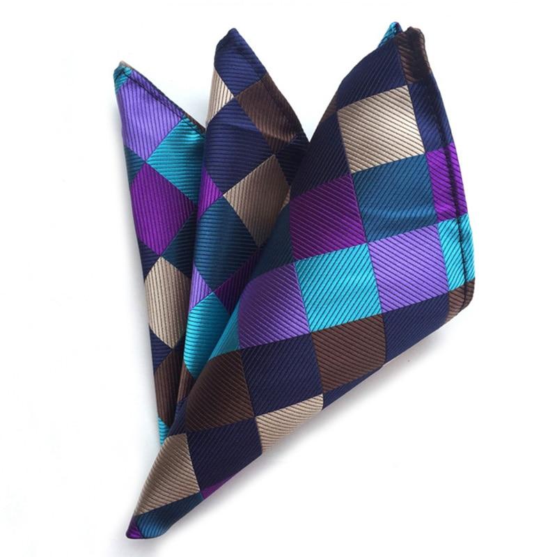 Mantieqingway Brand Men Paisley Pocket Square Flower Plaid Square Pocket Casual Pocket Handkerchiefs For Men Suits Handkerchief