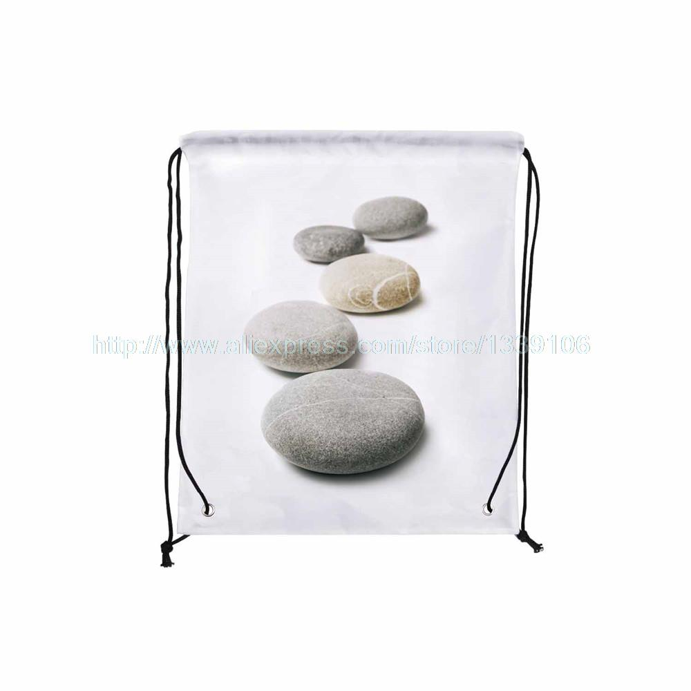 4Pcs Contracted Style Stone Print Custom Outdoor Beach Gym Swimming  Clothing Shoes Towel Storage Bag Drawstring Backpack