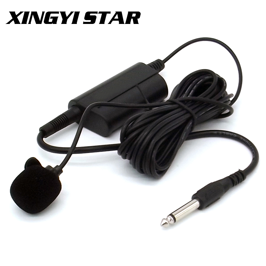 5-Meter Wired Musical Instruments Condenser Lavalier Microphone Lapel Tie Clip Mic Lapela For Guitar Speech Drum Saxophone Piano